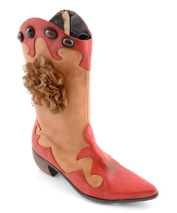 Red & Tan Pioneer Cowboy Boot