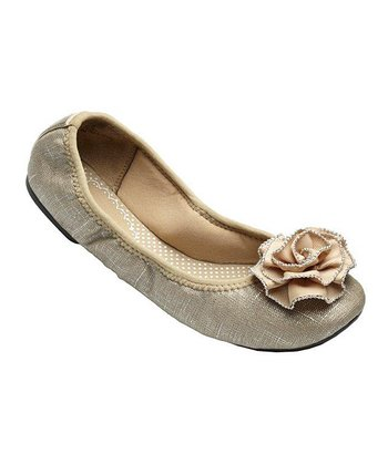 Neutral Canvas Liz Ballet Flat - Women