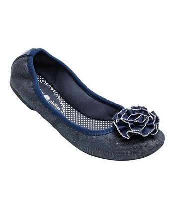 Navy Canvas Liz Ballet Flat - Women