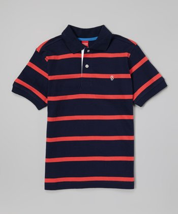 Bank Blue & Red Stripe Polo - Toddler & Boys