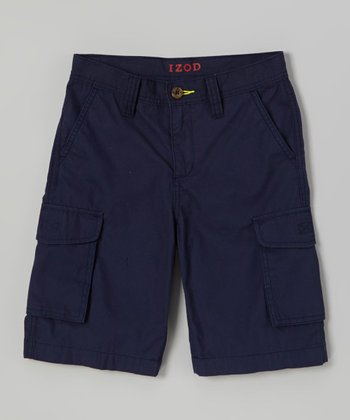 Dark Blue Cargo Shorts - Toddler