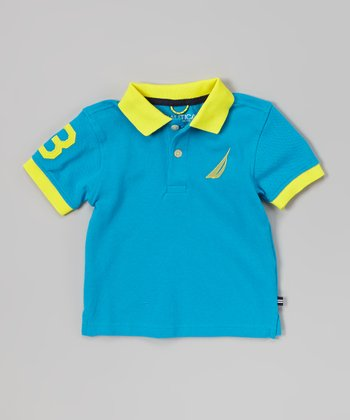 Neon Aqua Jersey Polo - Infant, Toddler & Boys