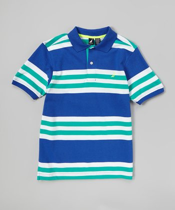 Royal & Jade Stripe Polo - Infant, Toddler & Boys