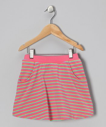 Sachet Pink Stripe Skort - Girls
