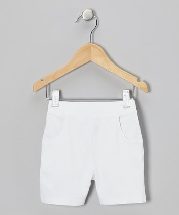 White Shorts - Toddler & Girls
