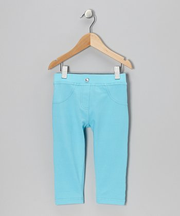 Turquoise Capri Pants - Toddler & Girls