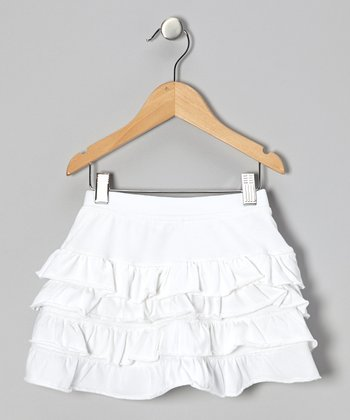 White Ruffle Skirt - Girls