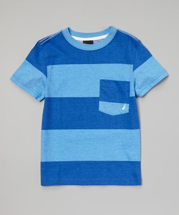 Blue & Navy Color Block Tee - Toddler & Boys