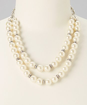 Ivory Two-Strand Pearl Bead Necklace