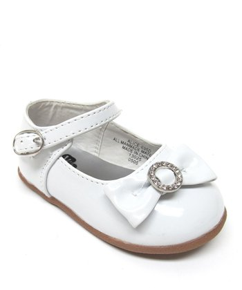 White Alice Ankle-Strap Flat