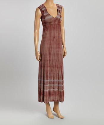 American Buddha by Yogi Nightshade Tie-Dye V-Neck Maxi Dress