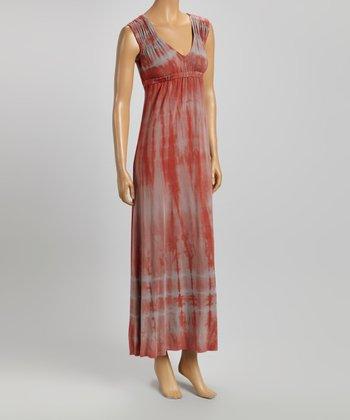 American Buddha by Yogi Sedona Tie-Dye V-Neck Maxi Dress