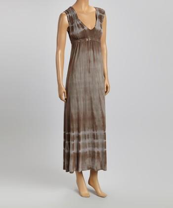 American Buddha by Yogi Shade Tie-Dye V-Neck Maxi Dress