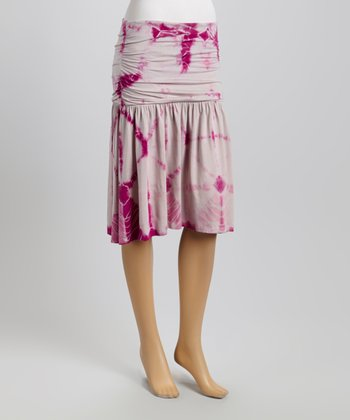 American Buddha by Yogi Sangria Tie-Dye Drop-Waist Skirt