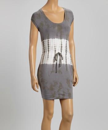American Buddha by Yogi Twilight Tie-Dye Belted Scoop Neck Dress