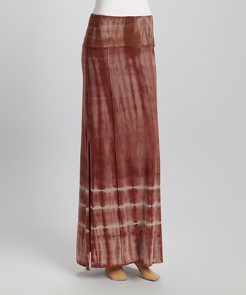American Buddha by Yogi Nightshade Tie-Dye Maxi Skirt