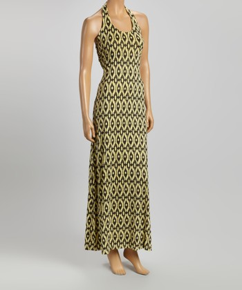 American Buddha by Yogi Mellow Yellow Abstract Maxi Dress