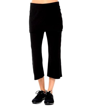 Black Devotion Skirted Organic Capri Pants
