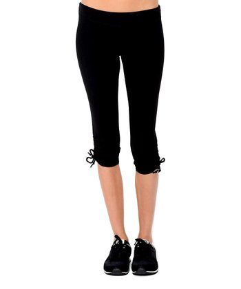 Black Organic Capri Leggings