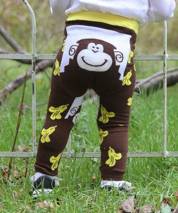 Brown Banana Monkey Leggings - Infant