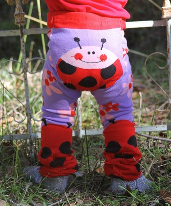 Purple & Red Ladybug Leggings