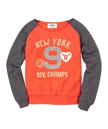Flame New York Champs Raglan Sweatshirt - Girls