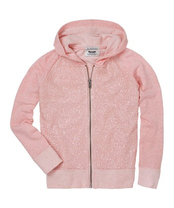 English Rose Sparkle Zip-Up Hoodie - Girls
