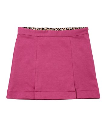 Deep Mauve A-Line Skirt - Girls