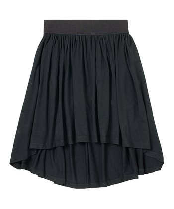 Black Hi-Low Skirt - Girls
