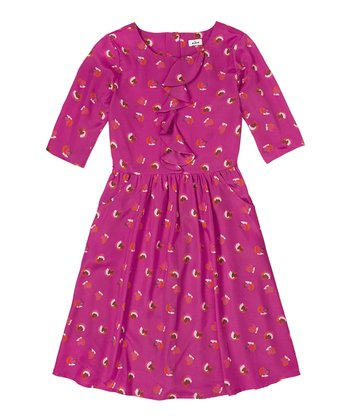 Mauve Ruffle Dress - Girls