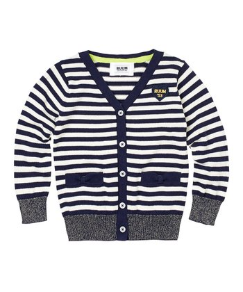 Navy Stripe Cardigan - Infant, Toddler & Girls