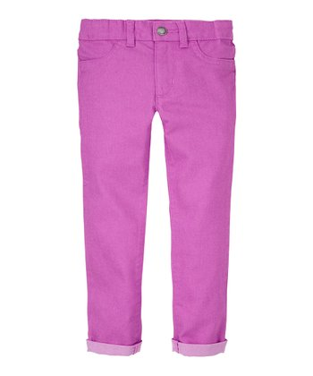 Parma Violet Twill Skinny Pants - Infant, Toddler & Girls