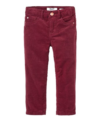 Mulled Wine Corduroy Skinny Pants - Infant, Toddler & Girls