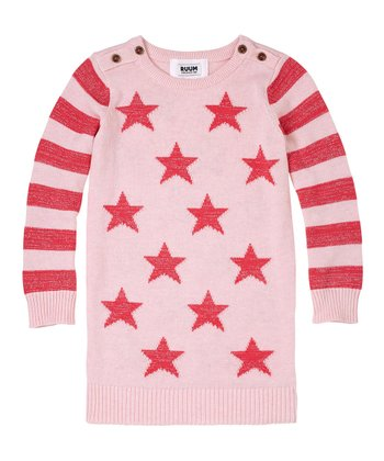 English Rose Stars Sweater Dress - Infant, Toddler & Girls