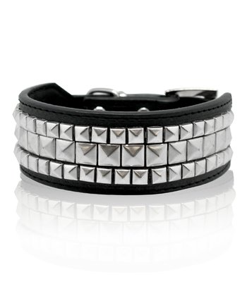 Furry Friends & Co. Black Studded Dog Collar