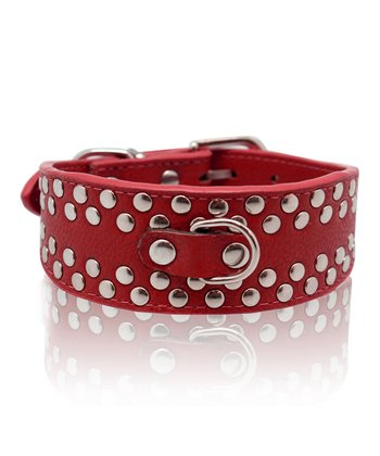 Furry Friends & Co. Red Grommet Dog Collar