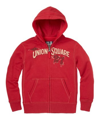London Red 'Union Square 27' Zip-Up Hoodie - Boys