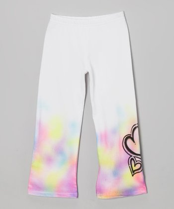 White Hearts Pants - Girls