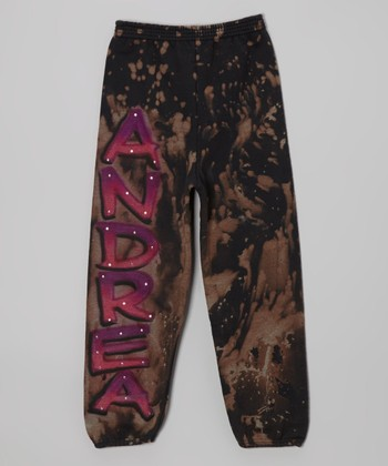 Black Bleach Personalized Sweatpants - Toddler & Girls