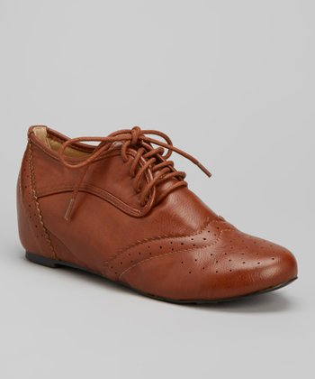 Cognac Bobby Oxford Wedge