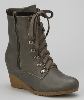 Gray Bonnie Wedge Boot