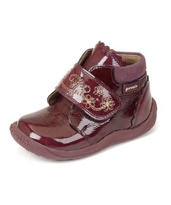 garvalin Burgundy Strap Ankle Boot