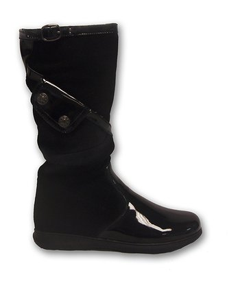 Black Micro Suede Boot