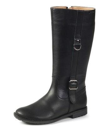garvalin Black Classic Buckle Boot