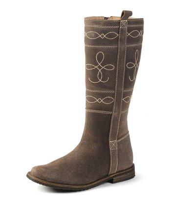 garvalin Brown Stitched Boot