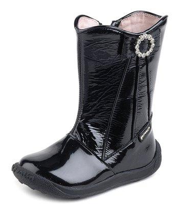 garvalin Black Patent Sparkle Circle Boot