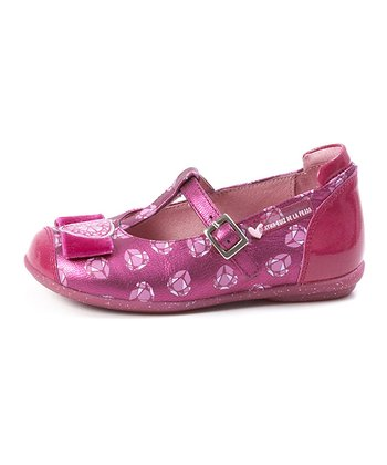 Fuchsia Diamonds T-Strap Shoe