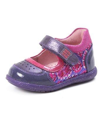 Agatha Ruiz de la Prada Pink & Purple Sparkle Mary Jane