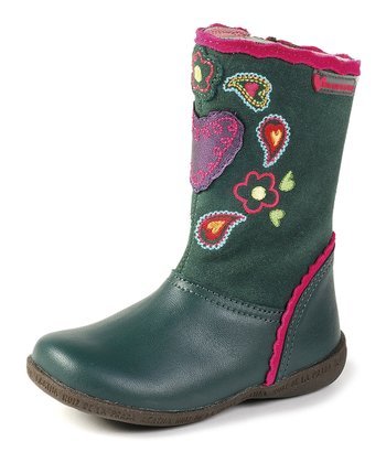 Agatha Ruiz de la Prada Green Embellished Boot