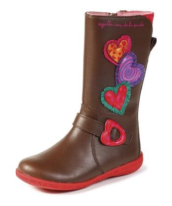 Agatha Ruiz de la Prada Brown Hearts Boot